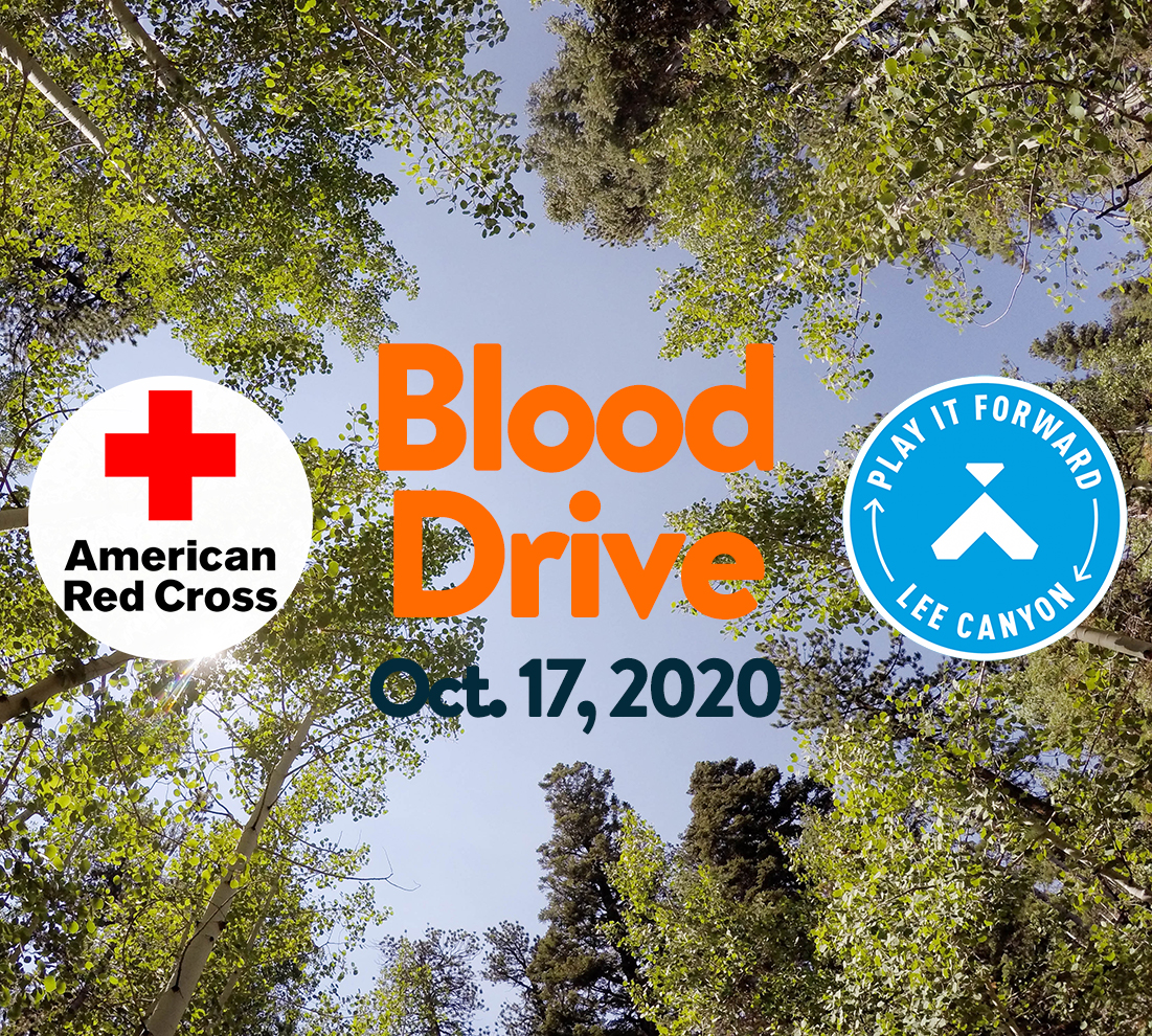 Lee Canyon and American Red Cross Blood Drive, October 17th, 2020.